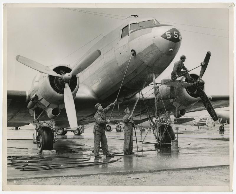 C-47 Transport Plane. Al Blunk Photograph Collection (996PC13-511)