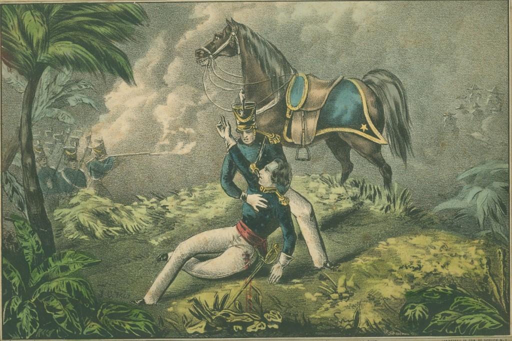 Death of Henry Clay, Jr. at Buena Vista.  [Print Collection, PR2070.0053]