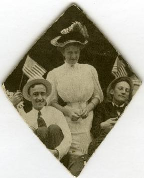 Turn of the century image of the Palmer-Joyes Family celebrating July 4th. [Palmer-Joyes Family Photograph Collection, PC16.0112.2]